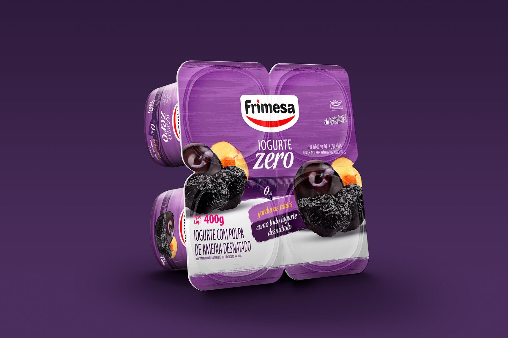 Fotógrafo de alimentos embalagem mockup Iogurte Decor